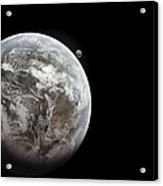 Artists Concept Of Earth As A Lifeless Acrylic Print