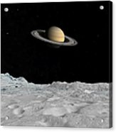 Artists Concept Of Saturn As Seen Acrylic Print