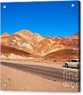 Artists Palette In Death Valley California Acrylic Print
