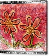 Artsy Daisies Acrylic Print