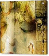 Artsy Girl Acrylic Print by David Taylor