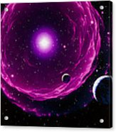 Artwork Of A Future Sun Ejecting Planetary Nebula Acrylic Print