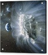 Artwork Of Comet Approaching Earth Acrylic Print