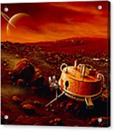 Artwork Of Huygens Probe On The Surface Of Titan Acrylic Print