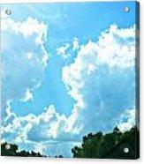 As Blue As The Sky Can Be Acrylic Print by Hannah Miller