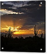 As The Sun Sets In The West  Acrylic Print