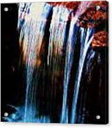 As The Water Falls Acrylic Print by Hannah Miller