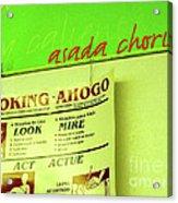 Asada Choke - Izo Acrylic Print by Joe Jake Pratt