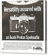 Asahi Pentax Spotmatic Acrylic Print