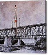 Asarco In Pen And Ink Acrylic Print by Candy Mayer