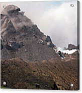 Ash And Gas Rising From Lava Dome Acrylic Print