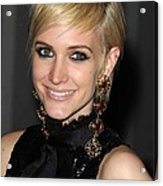 Ashlee Simpson Wearing Vintage Chanel Acrylic Print by Everett