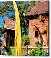 Asia Theming And Flags At Animal Kingdom Walt Disney World Prints Accented Edges Acrylic Print