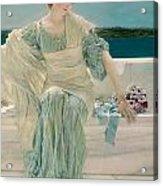 Ask Me No More Acrylic Print by Sir Lawrence Alma-Tadema