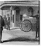 Assassination Of James King, Newspaper Acrylic Print