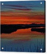Assateague Bayside Sunset Acrylic Print