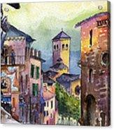 Assisi Street Scene Acrylic Print
