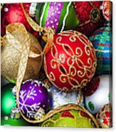 Assorted Beautiful Ornaments Acrylic Print by Garry Gay