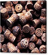 Assorted Champagne Corks Acrylic Print by Garry Gay