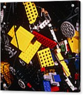 Assorted Lego Bricks And Cogs. Acrylic Print by Volker Steger
