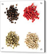 Assorted Peppercorns Acrylic Print