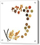 Assortment Of Spices Acrylic Print