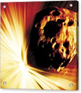 Asteroid Deflection, Stand-off Explosion Acrylic Print