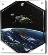 Asteroid Golf Acrylic Print