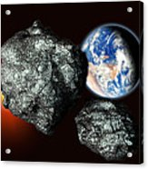 Asteroids Approaching Earth Acrylic Print