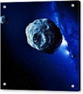 Asteroids Acrylic Print by Detlev Van Ravenswaay