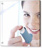 Asthma Inhaler Acrylic Print