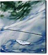 Aston Martin Hood Emblem 3 Acrylic Print