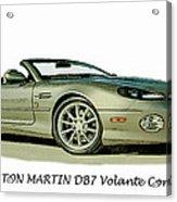 Aston Martin Acrylic Print