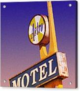 Astro Motel Retro Sign Acrylic Print
