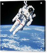 Astronaut Floating In Space Acrylic Print