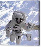 Astronaut Gernhardt On Robot Arm Acrylic Print