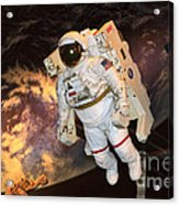 Astronaut In A Space Suit Acrylic Print
