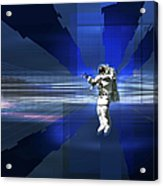 Astronaut In Space Acrylic Print