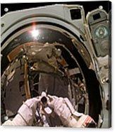 Astronaut Takes A Self-portrat Acrylic Print