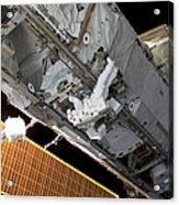 Astronaut Traverses Acrylic Print