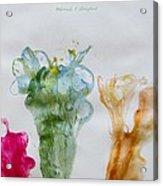 Asymetrical Flowers Acrylic Print
