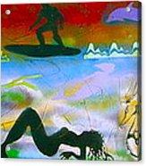At Sea Gold Acrylic Print