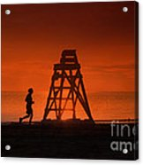 At The Beach In The Morning Acrylic Print