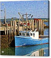 At The Dock Acrylic Print