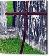 At The Old Rusty Cross Acrylic Print