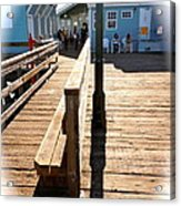 At The Piers End Acrylic Print