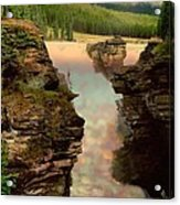 Athabasca Falls Evening Acrylic Print