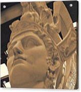 Athena Sculpture Sepia Acrylic Print by Linda Phelps