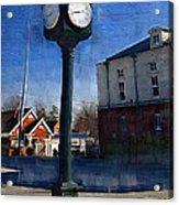 Athens Alabama City Clock Acrylic Print