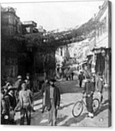 Athens Greece  C 1903 - Aeolos Street And The Stoa Of Hadrian Acrylic Print